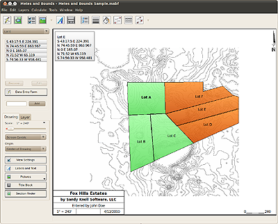 Metes And Bounds Metes And Bounds Software For Mac And Windows - Map plotting software free